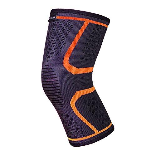 lokep traspirante caldo Sport ginocchio Protector ginocchiere ginocchio a compressione 1paio/2pezzi 4colori supporto per uomo e donna formazione Corsa Hiking sollevamento Basket, Uomo, Orange, L