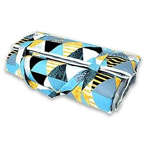 BlueKitty XXL 180×200 cm Picknickdecke Wasserdicht mit Tragegriff für Picknicks, Strandmatte, Stranddecke, Outdoor…