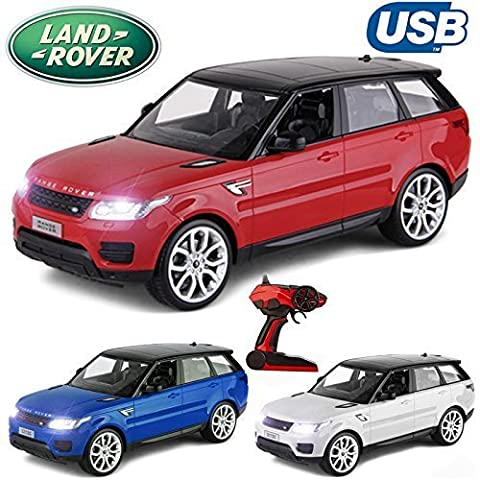 Comtechlogic® CM-2209 Official Licensed 1:14 Range Rover Sport Radio Controlled RC USB Electric Car Ready To Run EP RTR (Red)