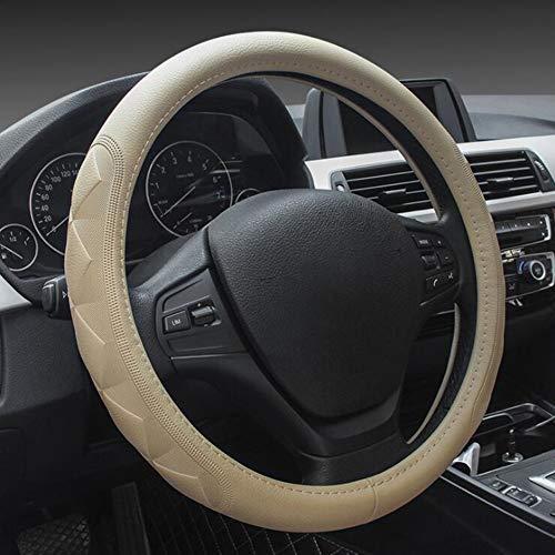 Durchmesser 38 cm Auto Lenkrad Abdeckung echtes Leder Selbstgriff Abdeckungs Automobilzubeh/ör Fahrzeug