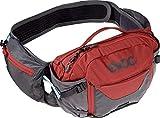 EVOC Sports GmbH HIP Pack PRO 3l + 1, 5l Bladder Hüfttasche, Carbon Grey/Chili Red, one Size