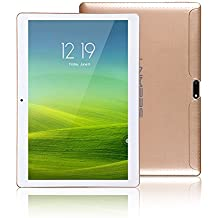 Lnmbbs 25.7 cm(10.1'') 3G Tablet PC 10 Inch Tablet PC Quad Core Processor, 2GB RAM, 16GB ROM, 3G Android 5.1 Lollipop Tablet, WI-FI, Dual Camera, Dual Sim Card, Bluetooth 4.0, GPS, 1280* 800IPS(Gold)