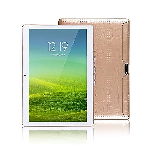 Lnmbbs 25.7 cm(10.1'') 3G Tablet PC 10 zoll Tablet PC Quad Core Processor, 2GB RAM, 16GB ROM, 3G Android 5.1 Lollipop Tablet, WI-FI, Dual Camera, Dual Sim Card, Bluetooth 4.0, GPS, 1280* 800IPS (Gold)