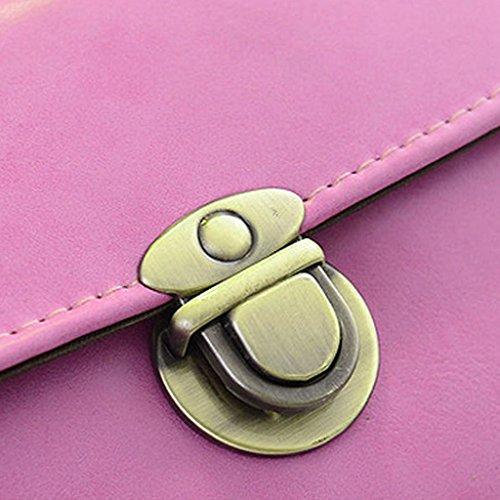 Sharplace Borse a Tracolla Sacchetto Portafoglio Spalla Catena per Donna Rosa Rossa