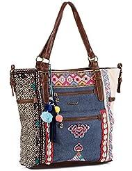 Desigual Damen Handtaschen Bols ARGENTINA SILVANA 61X52A4 3004 BERENJENA