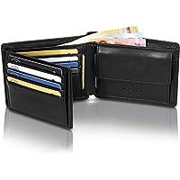 81e8e9955e1dd GenTo® Herren Geldbörse Manhattan aus Nappa Leder mit Münzfach TÜV  geprüfter RFID