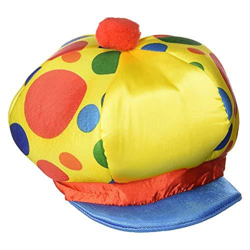 BESTOYARD Clown-Hut Clown Elf samt Hut Erwachsene Weihnachten Hut Party Prom Supplies (gelb)
