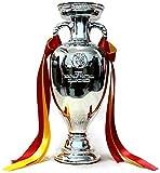 AK Trophée, Trophée Coupe d'Europe Modèle 1: 1 Football Memorabilia fans Fournitures Hollywood Trophy Le meilleur cadeau,argent,34 * 23 * 18cm...