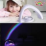 ✽ZEZKT-Home✽Regenbogen-Projektor LED Licht Reflexion in Schlafzimmer Regenbogen in meinem Raum Nachtlicht Tischleuchte Effekt Lampe Weihnachten Geschenk für Kinder (Weiß)