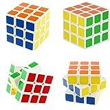 HJXDtech - Cyclone boy @ Paquete de 4 conjunto de mini 3x3x3 cubo mágico 40 x 40 x40 mm