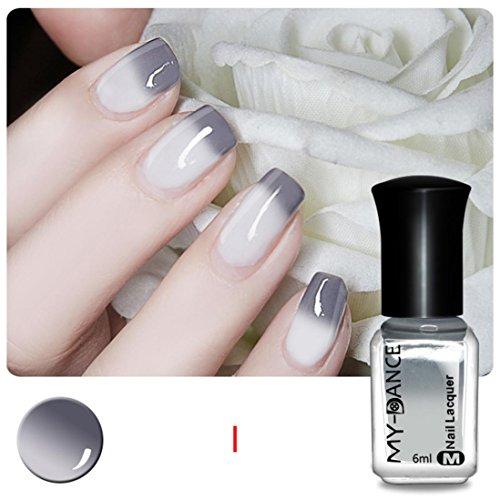 Tefamore 6ml Gesunde Thermische Nagel Polnisch, Langlebige Lack Farbe Ungiftig, Ändern Sie Farbe Mit Der Temperatur, Nail Art Beauty Kosmetik, Weiß (ändern Der Farbe Nagellack)