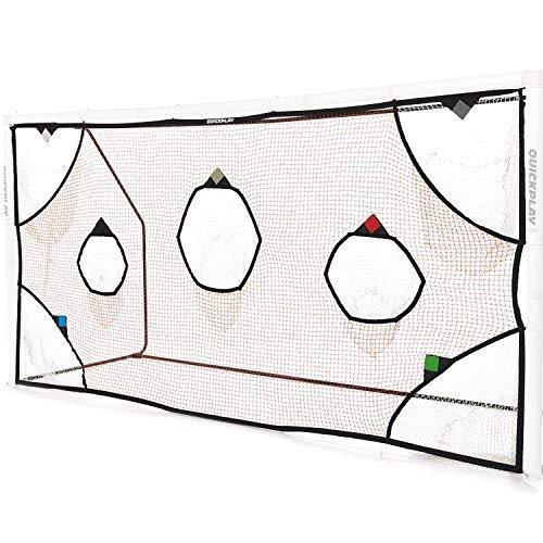 QUICKPLAY PRO Fußballtor Zielnetzemit 7 Scoring Zones - üben Fußballtorschüsse (3 x 2M)