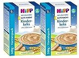 Hipp Gute-Nacht-Brei Kinderkeks - ab dem 6. Monat, 2er Pack (2 x 500g)