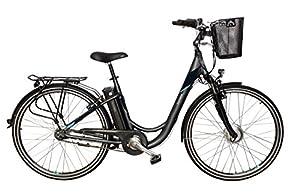 Telefunken E-Bike Damen Elektrofahrrad Alu 28 Zoll mit 7-Gang Shimano Nexus Nabenschaltung, Pedelec Citybike leicht mit Fahrradkorb, 250W und 10Ah, 36V Sitzrohrakku, RC755 Multitalent