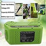 Momola Batterie de rechange au lithium Powilling 40V 5000mAh pour batterie GreenWorks 29472 29462 Outils électriques GreenWorks...