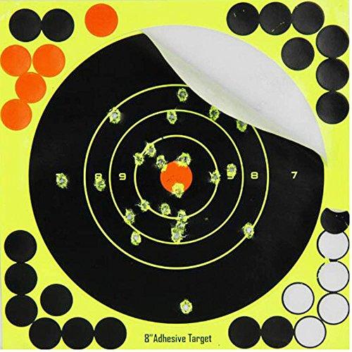 Will Outdoor 8 Zoll Shooting Target Selbstklebende Papier Splash Target Aufkleber Luftgewehr BB Pistole Luftgewehr Pistole Pistole Partikel Pistole Luftgewehr (Shooting Target-papier)