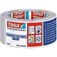 TESA 50565-00002-01 50565-00002-01-Cinta de Aluminio 50 micras-25m x 50mm con protector, Not_applicable, No aplica