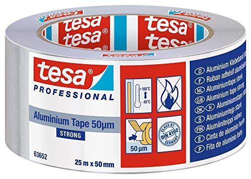 Tesa Aluminiumband für Reparaturen von metallischen Oberflächen, 50mmx25m