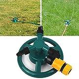 Garten Sprinkler, Queta Garten Wasser Sprinkler 360 Grad 3-Arm Drehender Rasen Sprinkler für Rasen, Hof, Garten, Basisanlage Bewässerungs Einstellbar Rasensprinkler