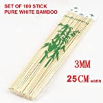 100 Pcs 10 inches Long Bamboo Barbecue Party Sticks! Kebab Skewers, Long Toothpicks!