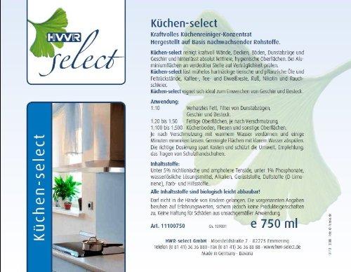 Küchen-select,  anwendungsfertig  725ml 4260305020028