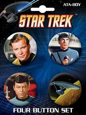 Star Trek 4 Piece Button Set