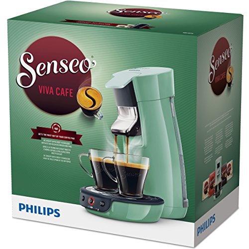 senseo viva cafe hd7829 10 pod coffee machine 0 9l green coffee maker coffee makers. Black Bedroom Furniture Sets. Home Design Ideas