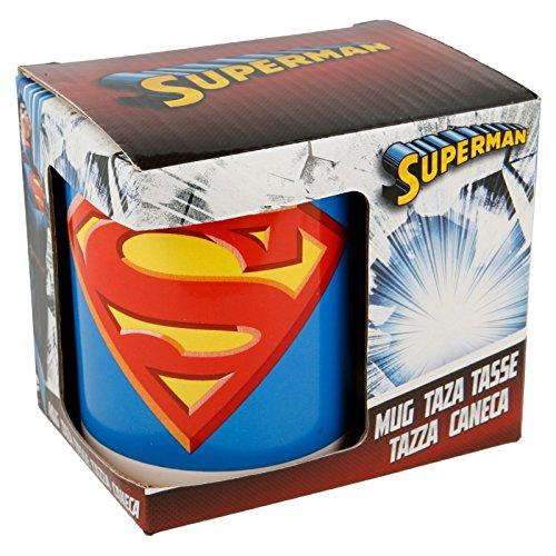 Stor Disney ST46421 Mug Superman 325 ML et boîte Cadeau Céramique, Multicolore, 8 x 12 x 9,5 cm