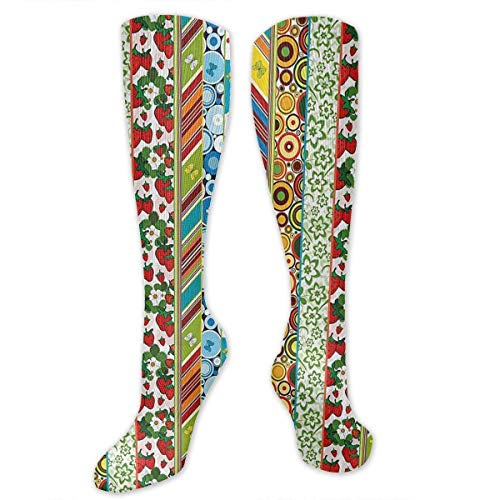 Gped Kniestrümpfe,Socken Sunflower Butterfly Strawberry Compression Socks,Knee High Socks,Funny Socks for Women Men - Best Medical,Sports,Running, Nurses,Maternity,Pregnancy,Travel & Flight Socks