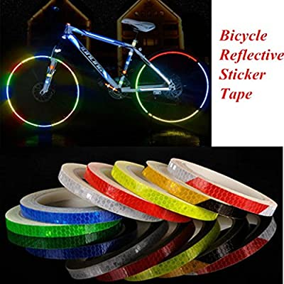 HCFKJ Reflektierende Aufkleber Motorrad Fahrrad Reflektor Fahrrad Radfahren Sicherheit Felge Aufkleber Band Safer