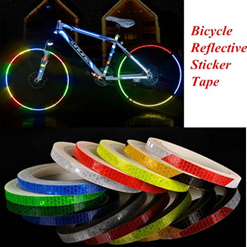 Hcfkj Reflektierende Aufkleber Motorrad Fahrrad Reflektor