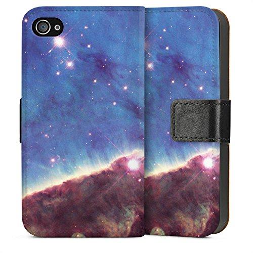 Apple iPhone 4 Housse Étui Silicone Coque Protection Brouillard Gabriela Mistral Espace Galaxie Sideflip Sac