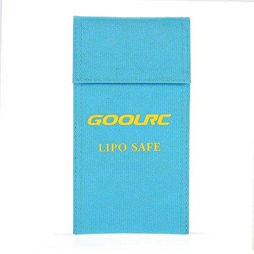 GoolRC 20 * 10 * 1cm prova di fuoco a prova di esplosione in fibra di vetro di alta qualità di RC Lipo sicurezza della batteria Safe Bag Guardia di carica Sack