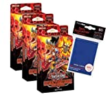 Yugioh - Soul Burner Structure Deck - 3 Decks + 60 Ultra Pro Hüllen GRATIS - Deutsch