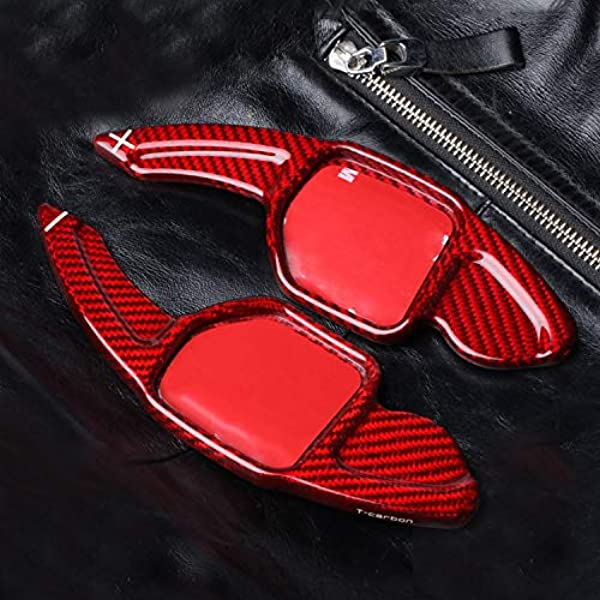 Max Auto Carbon Rot Carbon Look Schaltwippen Passend A3 A4 A5 A6 A7 A8 Q3 Q5 Q7 S3 S4 S5 S6 S7 S8 Sq5 Tt Tts Rs3 Rs4 Rs6 R8 Auto