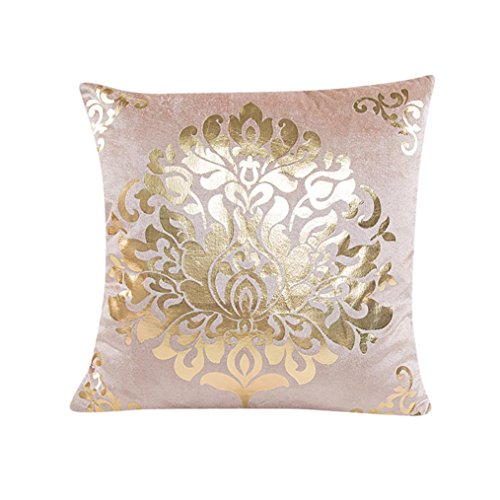 Kavitoz Kissenbezug Gold Folie Sofa Taille Throw 45 x 45 cm Zierkissenbezüge Home Decor (BG) -