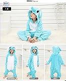 JT-Amigo Kinder Pyjama Strampler Schlafanzug Tier Kostüm für Halloween Karneval Fasching, Elefant Kostüm, Gr. 140/146 -