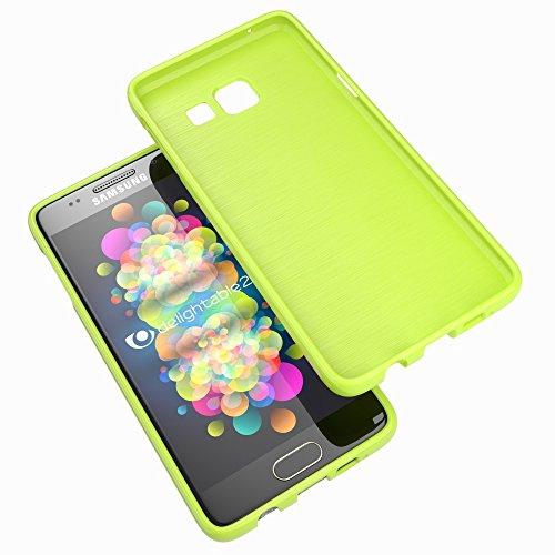 NALIA Handyhülle für Samsung Galaxy A5 2017, Ultra-Slim TPU Silikon Jelly Case Hülle, Dünne Gummi Schutzhülle Skin, Etui Handy-Tasche Back-Cover Bumper für Samsung A5 2017 Smartphone - Grün - 7
