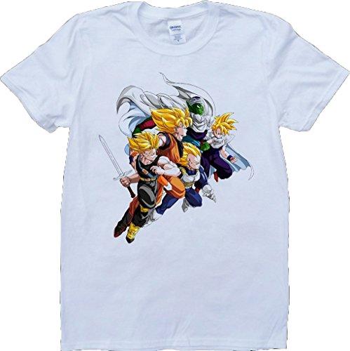 Drachen Kugel Z Weiß Benutzerdefinierten Gemacht T-Shirt Weiß