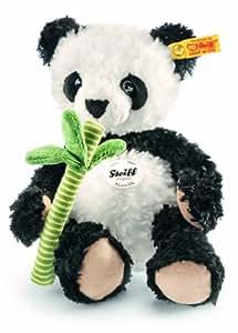 Steiff - 282188 - Peluche - Panda Manschli - Blanc/noir
