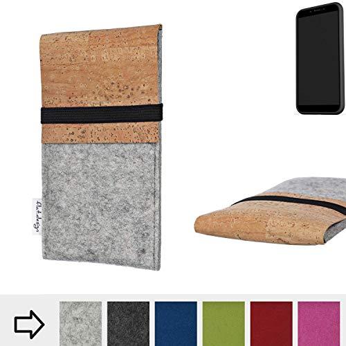 flat.design Handy Hülle SAGRES für Shift Shift6mq handgefertigte Handytasche Filz Tasche Schutz Case fair Kork