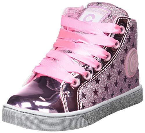 Conguitos Bota Basket Glitter con Luz, Zapatillas sin Cordones para Niñas, (Rosa 11), 29 EU