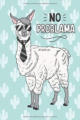 Notizbuch: Kein Problama, 120 Seiten gepunktet, eckiger Buchrücken, genug Freiraum für all deine Notizen, Gedanken, Ideen im Lama & Alpaka Design