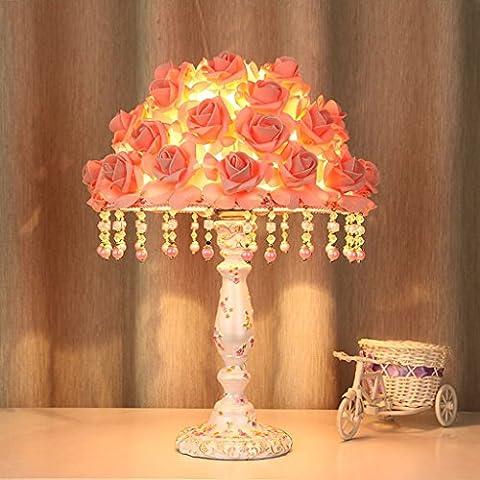 Creative chaud et romantique européenne table de mariage table à langer Chambre décorée rosette articles de mode léger ( Couleur : Rose