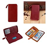 DFV mobile - Executive Wallet Case with Magnetic Fixation and Zipper Closure for = ORANGE LUNO ...