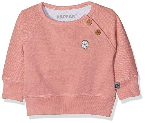 Papfar Sweat Sweatshirt GOTS-Zertifiziert, Shirt Bébé Fille, (Dusty Rose 516), 80 cm (Taille du Fabricant: 12M)