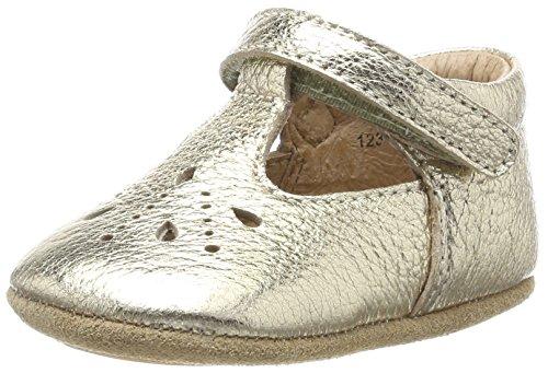 Bisgaard Baby Mädchen Bloom Krabbelschuhe, 02 Gold, 19 EU (Schuhe Gold Mädchen Baby)