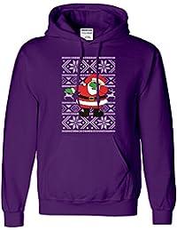 Christmas Dabbing Santa Kapuzenpullover Tupfen Baum Parodie