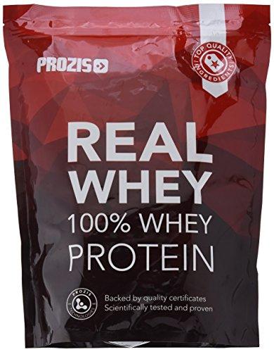 Prozis 100% Pure Real Whey Protein Powder - Suplemento de Chocolate Negro Enriquecido con BCAAs para un Máximo Crecimiento Muscular y Recuperación - 1kg