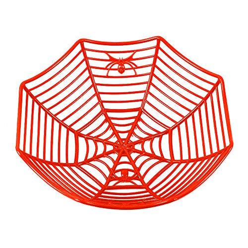 XINAINI Neu Obstkorb Kunststoff Spinnennetz, SüßIgkeiten Plastikkorb, Halloween Zuhause Restaurant Haupt Restaurant Bar KTV Das KüChe (Schnelle Kostümideen Mädchen)